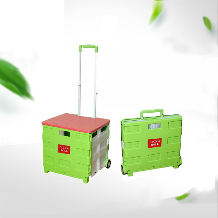ABS colorful foldable shopping trolley