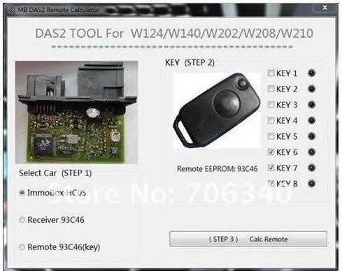 Best Mercedes Benz DAS2 Immobilizer Remote Calculator