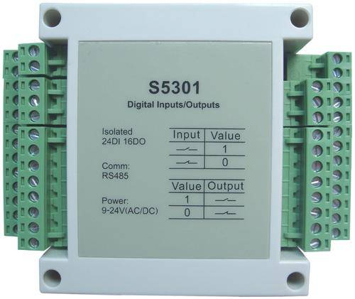 S5301:24-ch isolated digital input,16-ch isolated digital output,modbus rtu,rs485