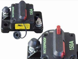 Surface/Panel Mount and Manual/Auto Reset, Waterproof Sealed high-amp Circuit Breaker