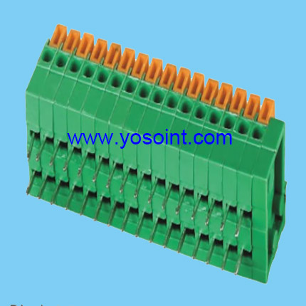 2.54mm Pitch PCB Spring Terminal Block right angle