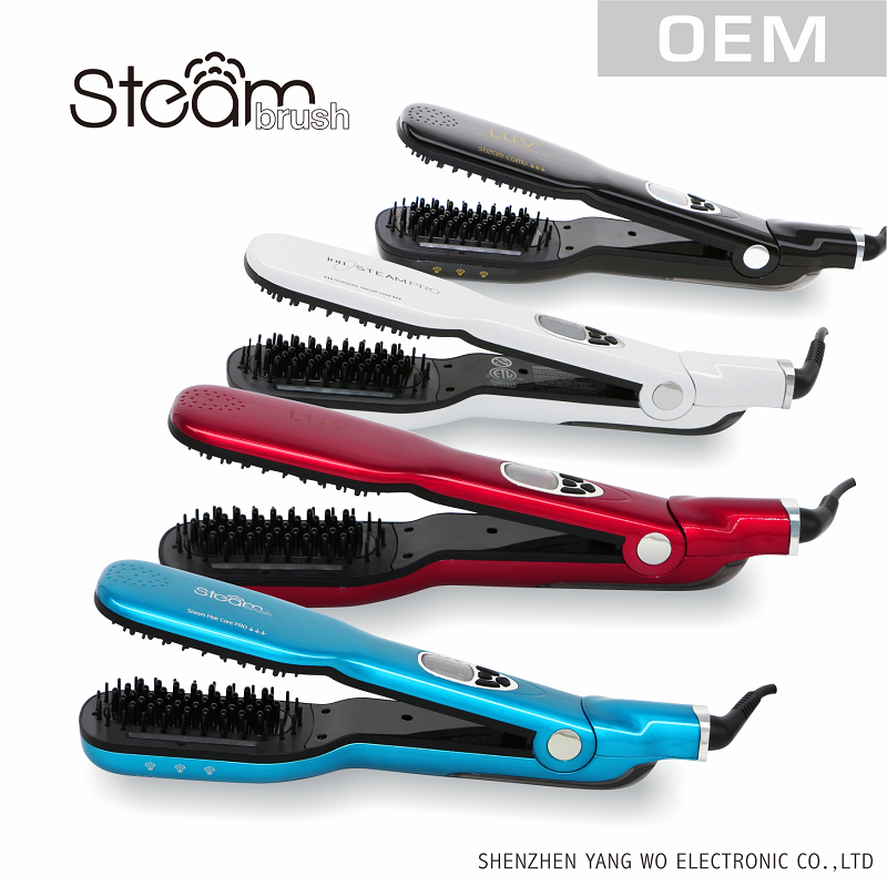 3D ceramic steam hair straightener comb in quick to straigten