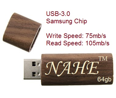 64gb Wooden USB Flash Drive