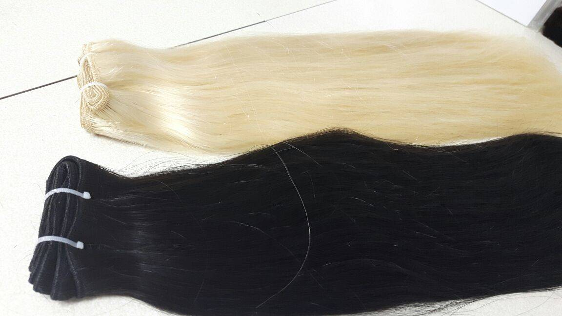 color weft hair