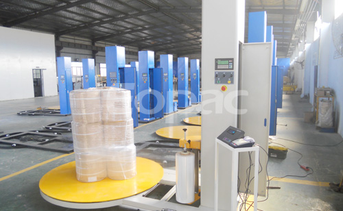 ET300PPS-CZ Turntable stretch wrap equipment with scale weighing