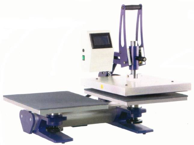 HA-406SD Touch screen heat press with two worktables