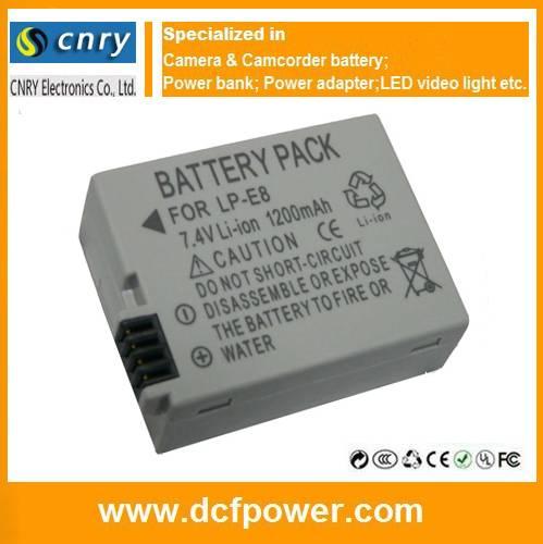 LP-E8 battery for Canon EOS 550D 650D Rebel T2i T3i T4i T5i LP-E5 LP-E4 LP-E12