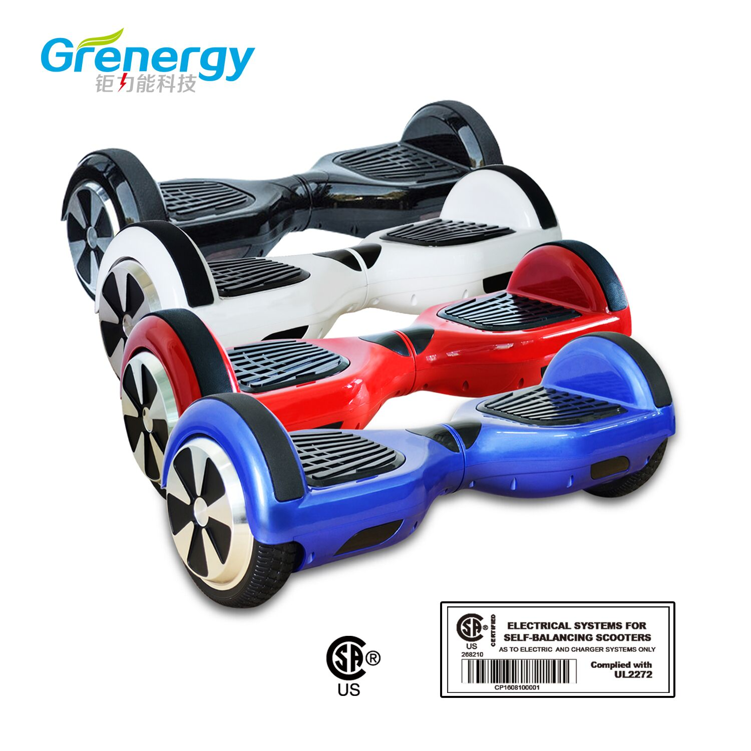 6.5inch UL2272 balance scooter with bluetooth and led light from China fatory