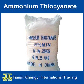 China supplier high quality ammonium thiocyanate for powder price