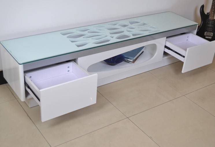 High quality tempered glass tv stand for sale