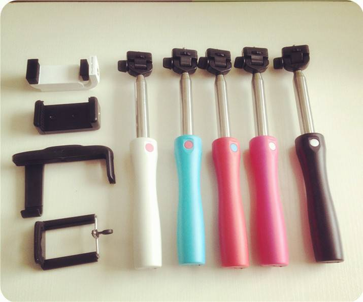 Extendable Handheld Wireless selfie timer Bluetooth Shutter Monopod Stick for IOS Android system