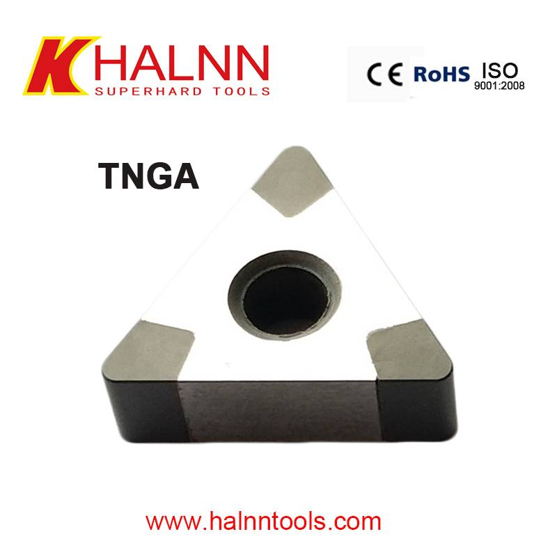 TNGA Bn-H20 Hard turning insert from China cbn insert manufacturer Halnn superhard
