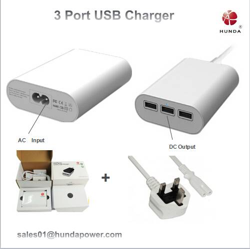 Wholesale High Quality 36w 3 port usb charger for desktop usb charger