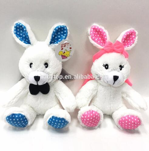 Custom Babies Soft Toys Animal Stuffed Plush Toy Angel rabbit bear