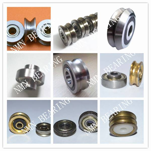 non-standerd bearings, pulley guide track roller bearings V U groove