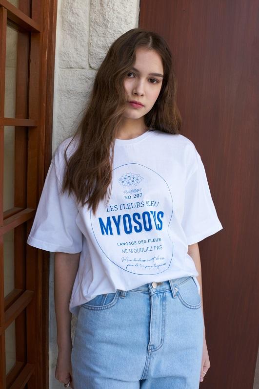Lartigent Women T-Shirt - LB Myosotis T-Shirt(White)