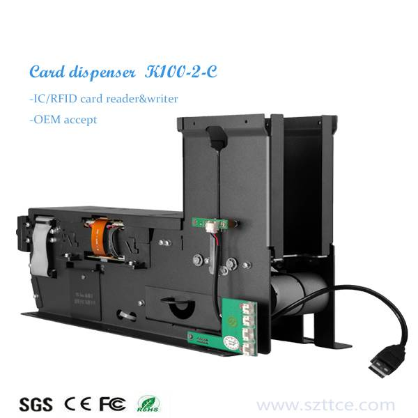Access control system card dispenser with mgnetic/ic/rfid card reader writer