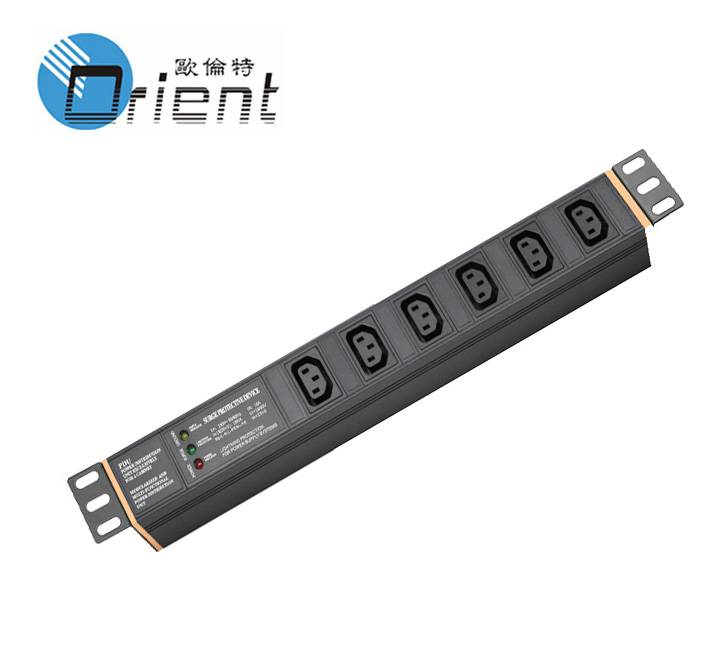 1U IEC C13 PDU with anti-light & anti-surge device