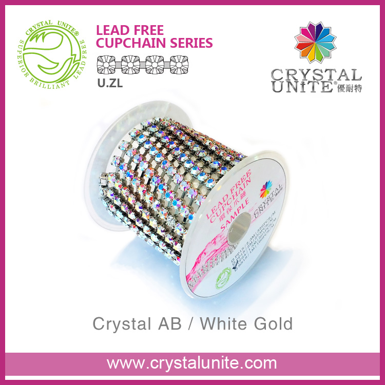 Crystal Unite rhinestone chain roll for shoes