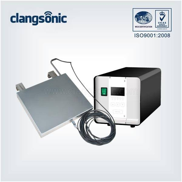 Ultrasonic Induction Heating Generator/Controller With Ultrasonic Immersion Transducer Plate