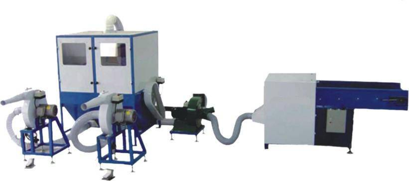 Fiber carding & filling machine