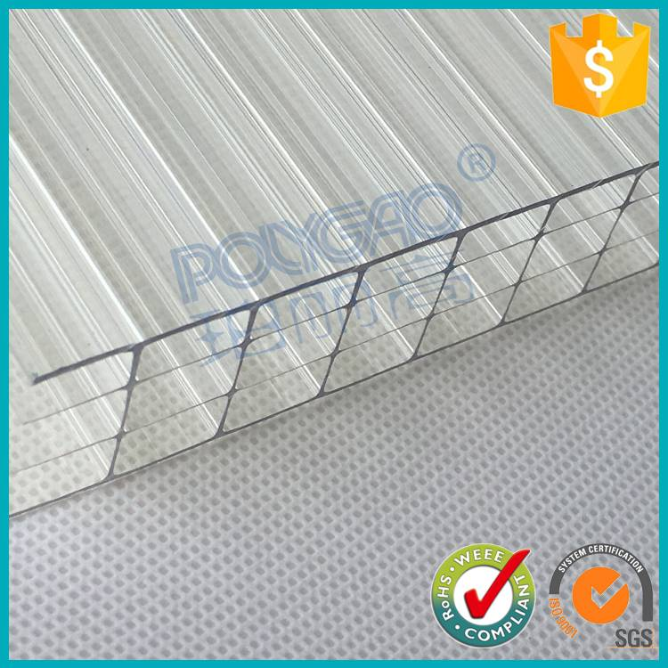 Quality assured heatproof 10mm four wall thailand tinted polycarbonate sheet greenhouse