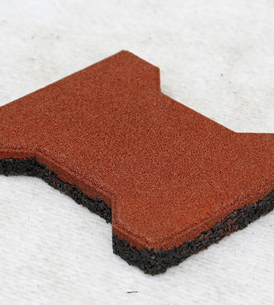 OYT0100 Small dog bone rubber tile