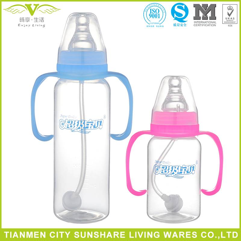 Standard-neck PP Infant Feeding Bottle Baby With Handle