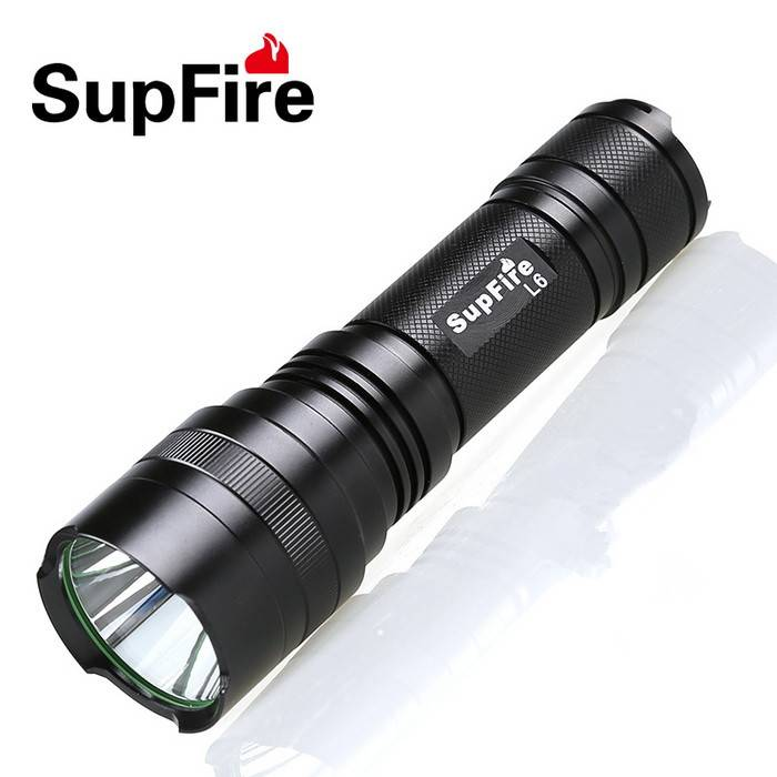 Multiple power with 26650 battery police flashlight SupFire L6