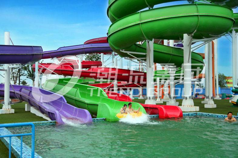 Fiberglass spiral water slide for water theme park