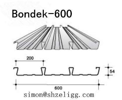 BONDEK 600 STRUCTURAL DECKING Bondek slab