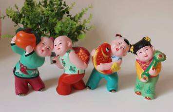 clolorful clay sculpture good for home decoration