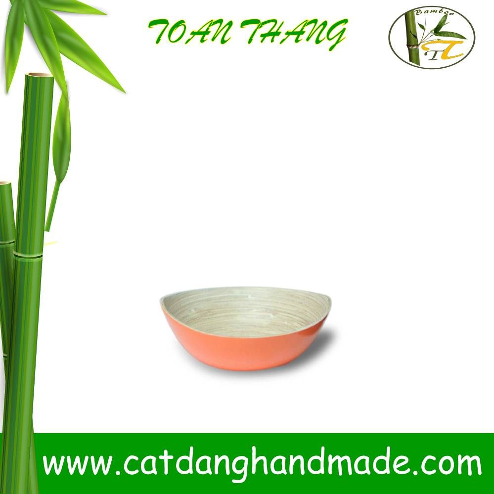 high quality bamboo lacquer bowl, bamboo oval bowl with leg (skype: jendamy, Mob: +84 914542499)