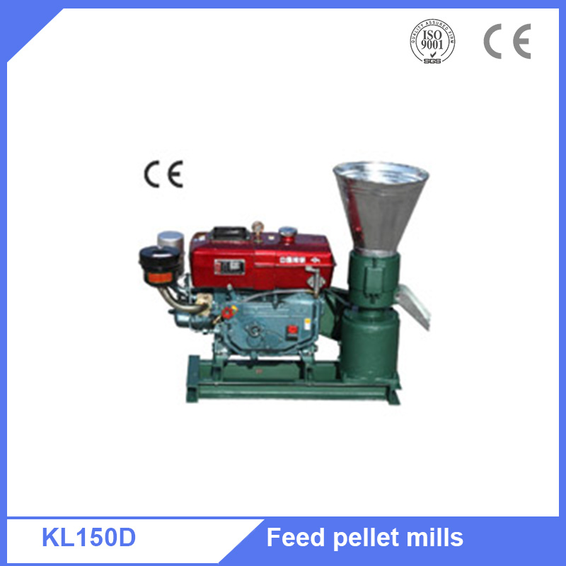 Diesel motor PTO type flat die pellet mill for Australia poultry farm