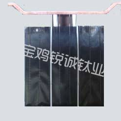Titanium anode for electrolysis copper/aluminous foil