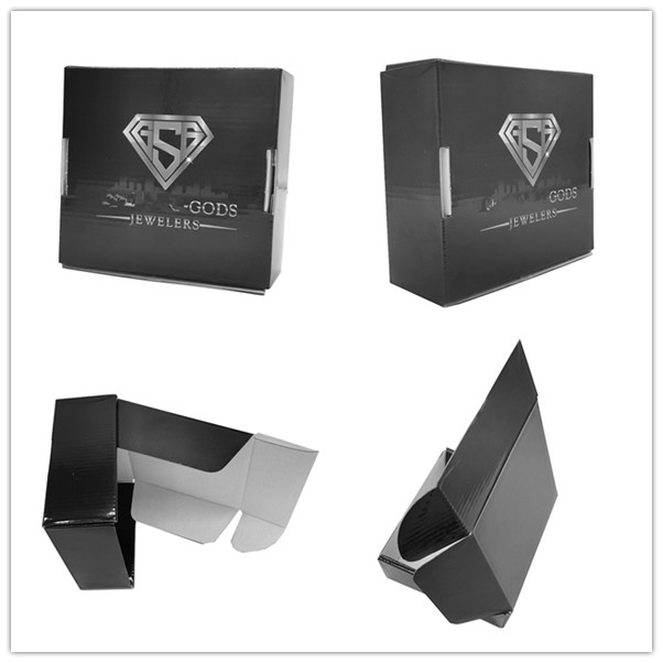 Custom black corrugated boxes box small with a competitive price