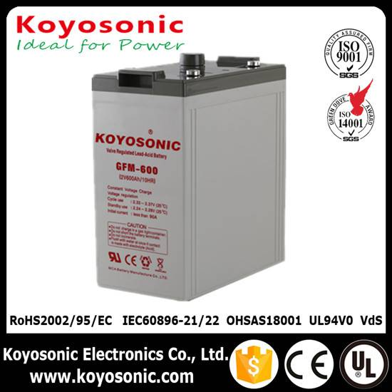 Maintanence free 2V600Ah Sealed Lead Acid Battery Koyosonic Brand, AGM battery