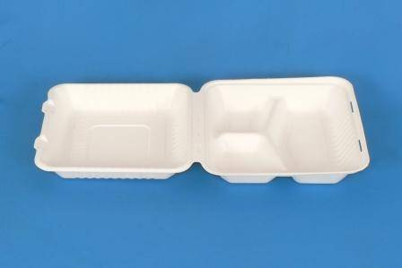 9 inch 3 compartment 100% Disposable Compostable Bagasse Sugarcane Take Away Food Packing Box