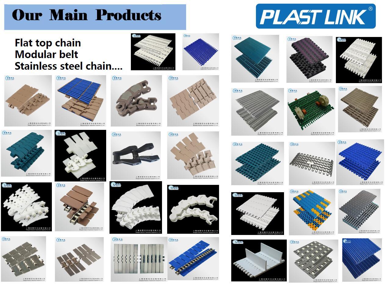 PlastLink pom material conveyor belt system