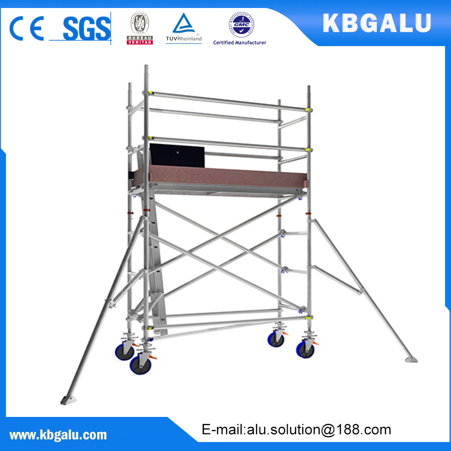 single width aluminum scaffold tower with 2.0m standing height