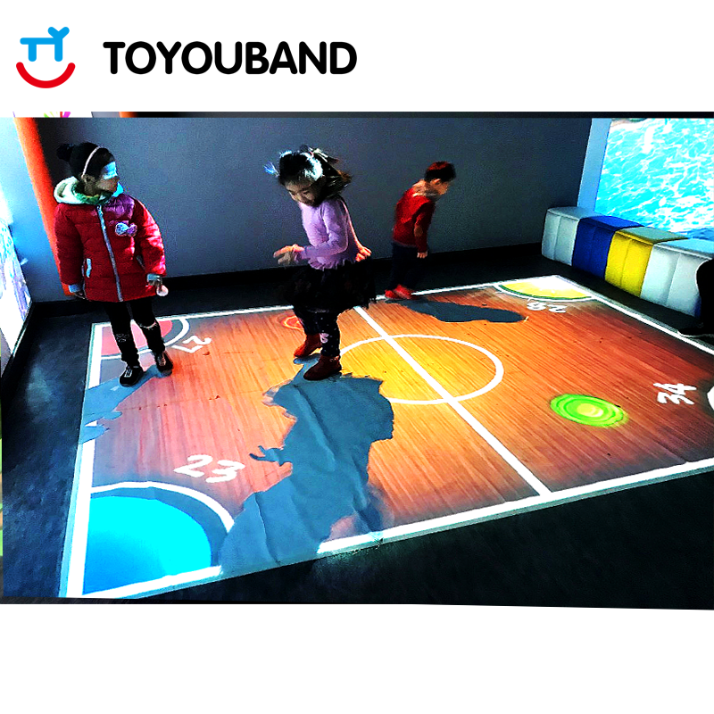 Interactive Floor Projection by Toyouband for Indoor Playground