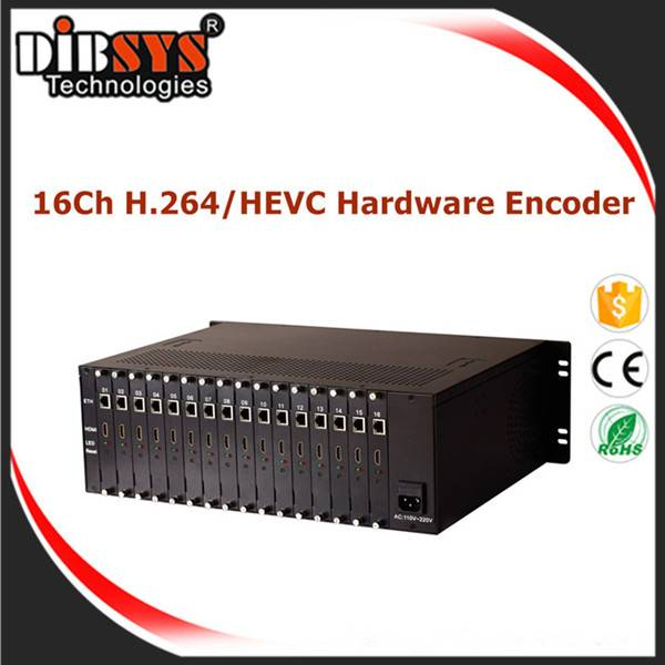 Full HD HEVC(H.265)/H.264 Hardware IPTV Encoder