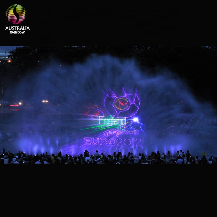 Outdoor Lake Floating Water Screen Movie Fountain With Laser Projector