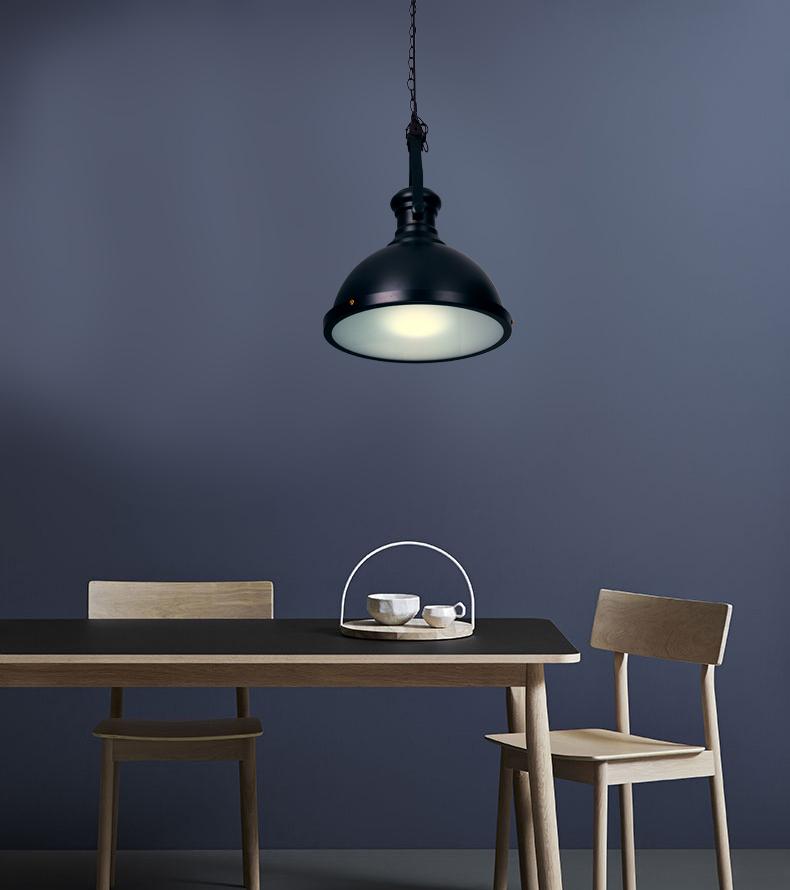 E27 bulb lamp loft vintage light pendants hanging light black iron