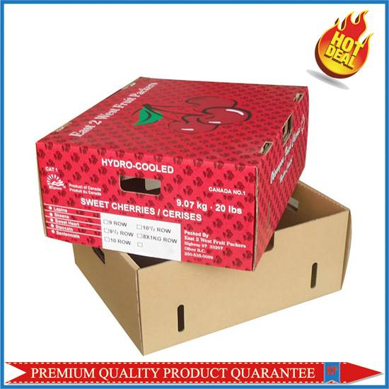 Cherry Packing Corrugated Boxes