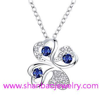 Silver Plated Costume Fashion Zircon Jewelry Necklaces