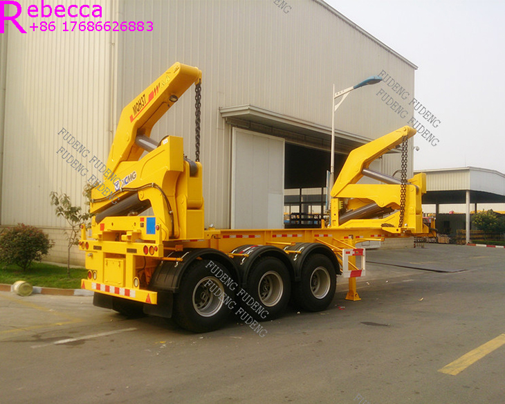 3 axle 40ft self loading container trailer container side lifter for sale