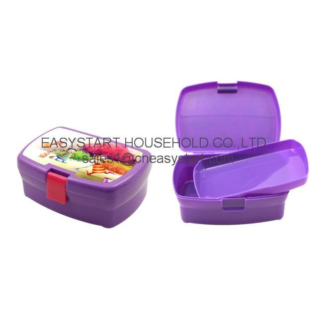 Plastic children cartoon lunch box