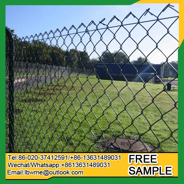 Europe Paris used chain link fence London powder coated diamond fencing for farm