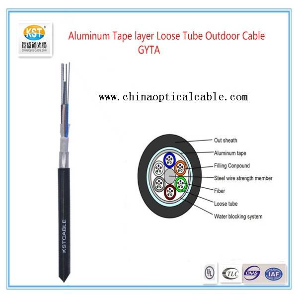 Aluminum Tape layer Loose Tube Outdoor Cable  GYTA